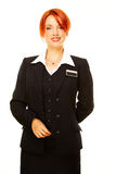 Caucasian woman as hotel worker Royalty Free Stock Photo