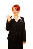 Caucasian woman as hotel worker Stock Photo