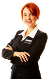 Caucasian woman as hotel worker Stock Image