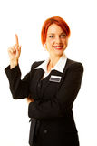 Caucasian woman as hotel worker Royalty Free Stock Image
