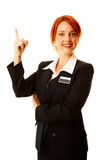 Caucasian woman as hotel worker Stock Photos