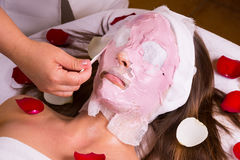 Caucasian woman at the beautician. Stock Images