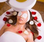Caucasian woman at the beautician. Stock Photo