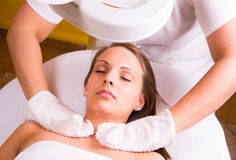 Caucasian woman at the beautician. Stock Photography