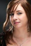 Caucasian Woman Blank Expression Portrait Stock Photos