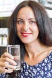 Caucasian woman drinking water Royalty Free Stock Photo