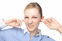 Caucasian woman ears Stock Photos