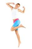 Caucasian Woman Exercising Stock Image
