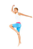 Caucasian Woman Exercising Royalty Free Stock Photos