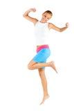 Caucasian Woman Exercising Stock Photo