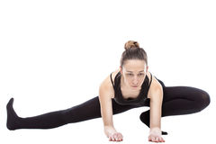Caucasian woman exercising pilates Stock Image