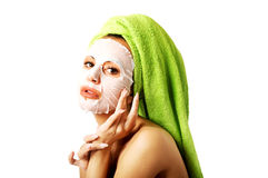 Caucasian woman with face mask Royalty Free Stock Photos