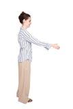Caucasian woman handshake greeting reach Royalty Free Stock Images