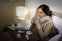 Caucasian woman having bad cold Stock Photo