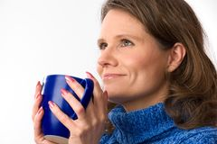 Caucasian woman holding teacup Royalty Free Stock Photography