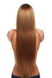 Caucasian woman with long beautiful hair Stock Photo