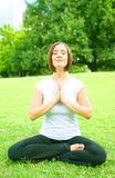 Caucasian Woman Meditate Royalty Free Stock Photo