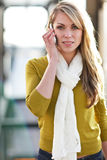 Caucasian woman on the phone Royalty Free Stock Images