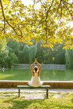 Caucasian woman practicing yoga Royalty Free Stock Photography