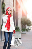 Caucasian woman shopping Royalty Free Stock Images