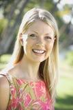 Caucasian woman smiling. royalty free stock image