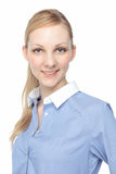 Caucasian woman smiling Royalty Free Stock Images
