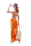 Caucasian woman standing in bikini Stock Photography