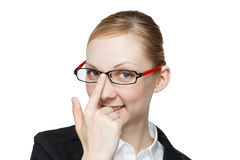 Caucasian woman to wear glasses Stock Images