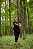 Caucasian woman training Stock Image