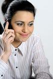 Caucasian woman working Stock Photo