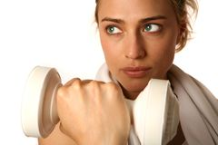 Caucasian Woman Working Out Stock Photography