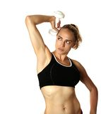 Caucasian Woman Working Out Royalty Free Stock Image