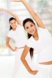 Women stretch fitness stock photo