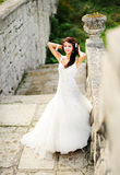 Caucasian young bride Stock Images