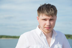Caucasian young man Royalty Free Stock Image