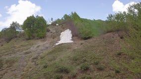 Природа ража горы на верхней части стоковые фотографии rf