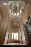 Caucasus. Abkhazia (Abhazia). Autumn. Pitsunda. Cathedral interior, frescos and organ hall Stock Images