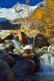 Caucasus in autumn. This is sunny landscape in Caucasus mountains,Dombaj in autumn Stock Images