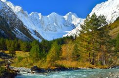 Caucasus of autumn stock image