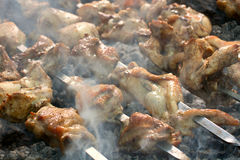 Caucasus barbecue Stock Photography