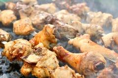 Caucasus barbecue. Preparing caucasus barbecue from chicken. Close up Stock Photos
