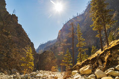 caucasus cheget wąwozu góry Russia Obrazy Royalty Free