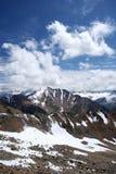 caucasus clouds snow för bergrockssky Royaltyfri Bild