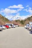 caucasus Dal av Narzan parkering Arkivfoto