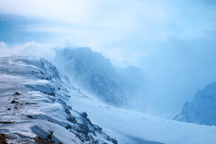 caucasus Dombay härliga berg Fotografering för Bildbyråer