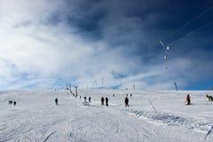 caucasus dombay regionu narty skłon Fotografia Royalty Free