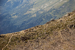 caucasus Ett landskap i bergen Royaltyfri Foto