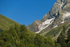 caucasus Ett landskap int bergen Arkivbilder