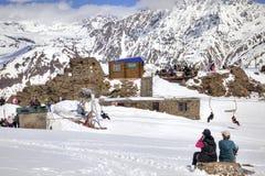 caucasus Górska kawiarnia Zdjęcie Royalty Free