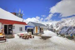caucasus Górska kawiarnia Zdjęcia Royalty Free